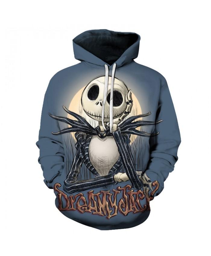 Dream Skull 3D Print Hoodies Men Hoody Harajuku Hoodie Streatwear Sweatshirt Tracksuit Pullover Coat Hip Hop Dropship