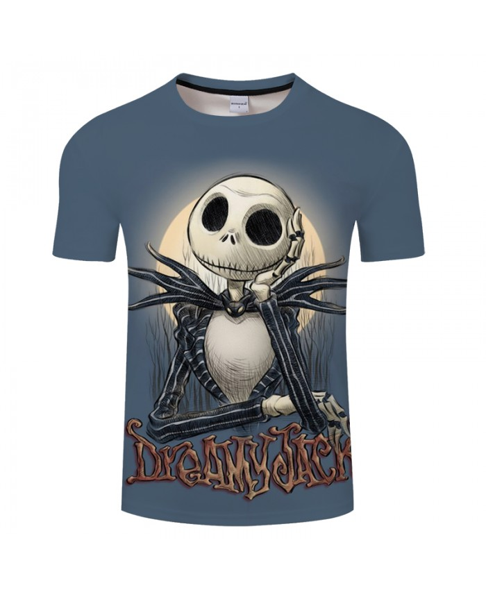 Dream Skull 3D Print T shirt Men T-shirt Brand Tops Tee Anime Streetwear Summer Short Sleeve tshirt O-neck Drop Ship