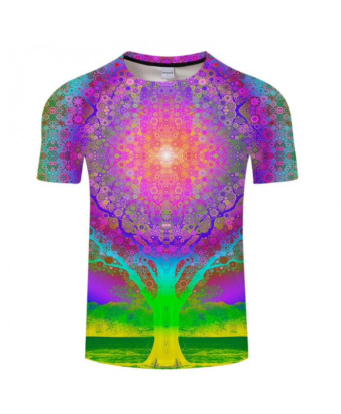 Dream Tree 3D Print t shirt Men Women tshirts Summer Casual Short Sleeve O-neck Tops&Tees 2018 Unisex Hot Drop Ship