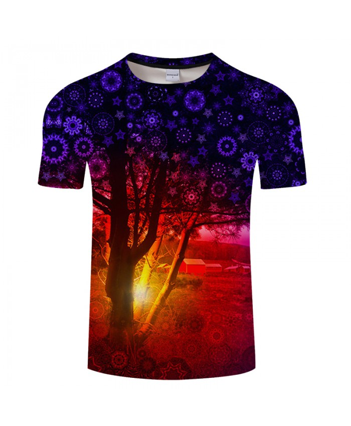 Dreaming Tree Print 3D T shirts Men Women tshirts Summer Cartoon Short Sleeve O-neck Tops&Tees 2018 New Drop Ship