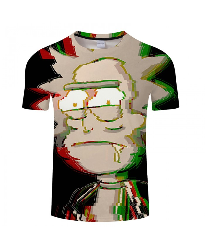 Drool Rick 3D Print t shirt Men Women tshirt Summer Funny Cartoon Short Sleeve O-neck Tops&Tees 2019 Black Drop Ship