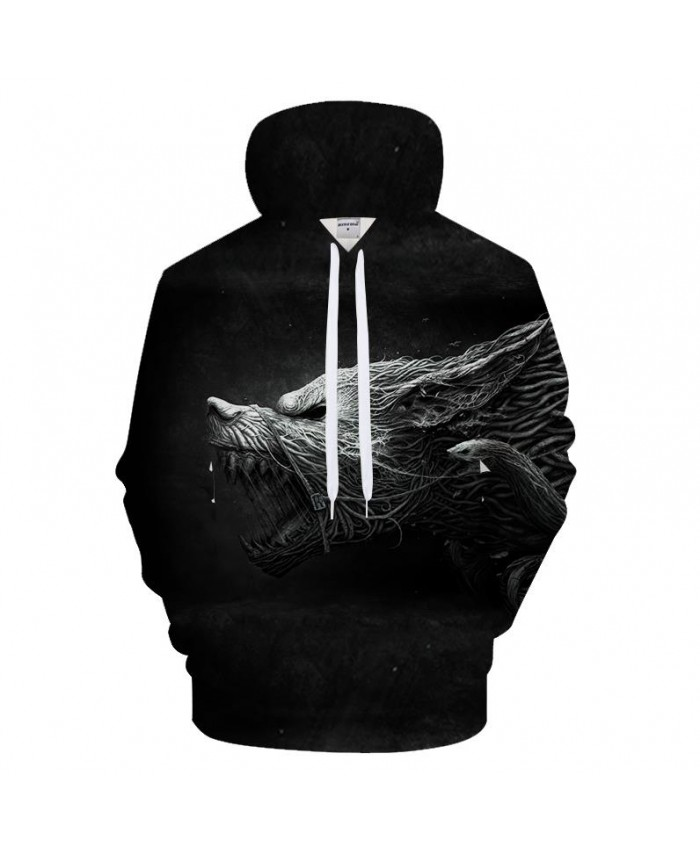 Dryad Hoodies Men Women Sweatshirts 3D Wolf Hoody Animal Tracksuits Streatwear Coat Male Clothing Pullover Drop ship