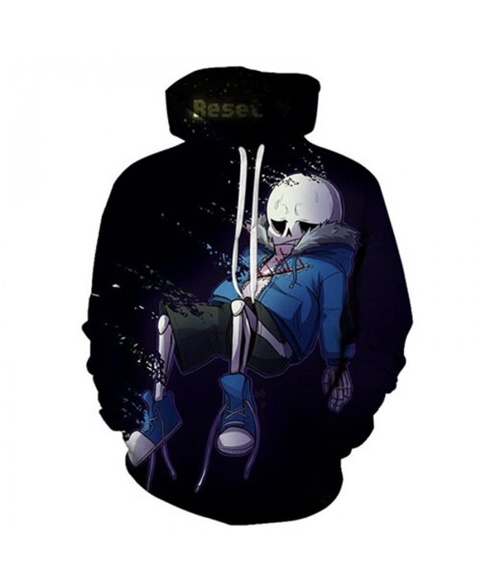 Dump Undertale 3D Print Mens Pullover Sweatshirt Fashion Casual Quality Men Hoodies Custom Pullover Hoodie Anime