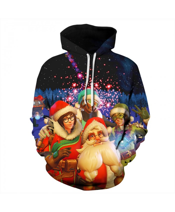 EU Size 2019 Santa Claus Christmas Hoodie Hoodies Men Women Autumn Winter Sportswear Tracksuit Pullover Hoody Top 3D Sweatshirts