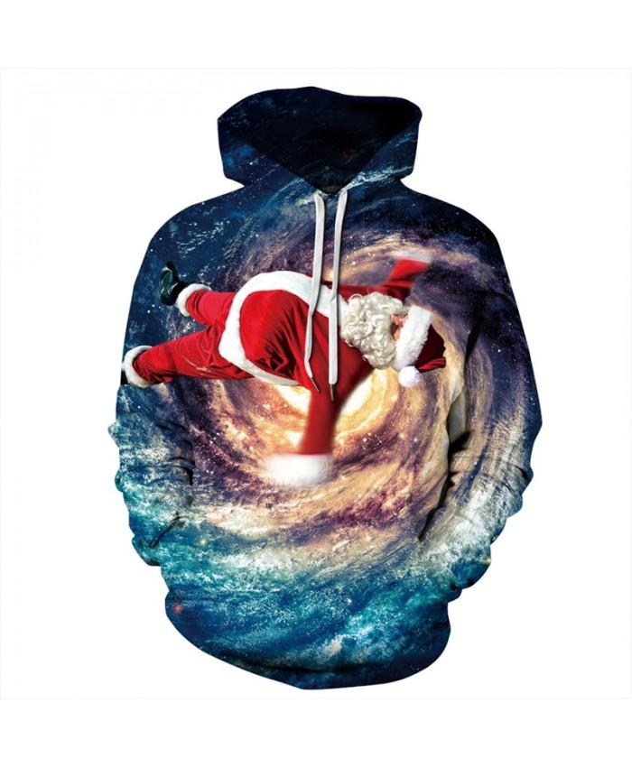 EU Size Christmas Galaxy Space Hoodie Hoodies Men Women 2019 Sportswear Tracksuit All Over Printed 3D Hooded Sweatshirts