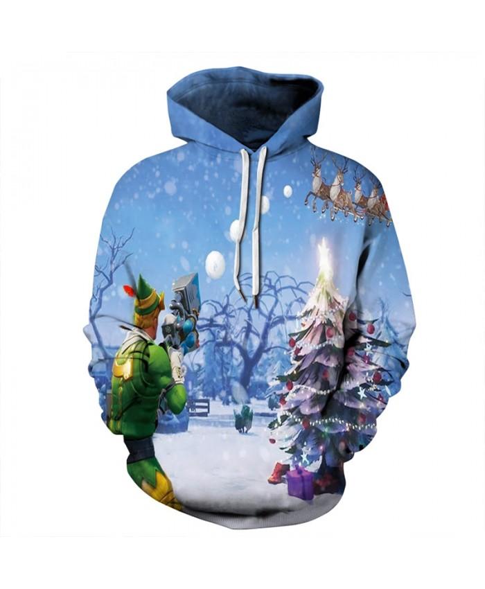 EU Size Christmas Hoodie Men Women 2019 Long Sleeve Pullover Hoody Tops Casual Tracksuit All Over Printed 3D Hoodies Sweatshirts