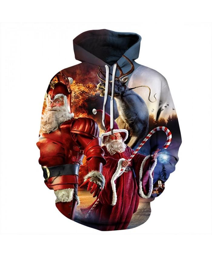 EU Size Christmas Hoodies Sweatshirts Men Women Autumn Winter Sportswear Tracksuit 2019 Long Sleeve Hooded Casual 3D Hoody Tops