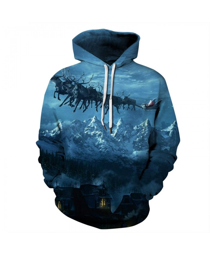EU Size Christmas Snow Hoodie Hoodies Men Women Sportswear Tracksuit 2021 Long Sleeve Hooded Sweatshirt Pullover Hoody Tops