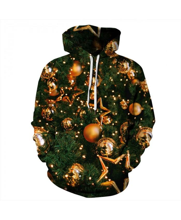 EU Size Christmas Tree Hoodies Sweatshirts Men Women Pullover Hoody Tops 2019 Autumn Winter Tracksuit Casual Hooded Sweatshirts