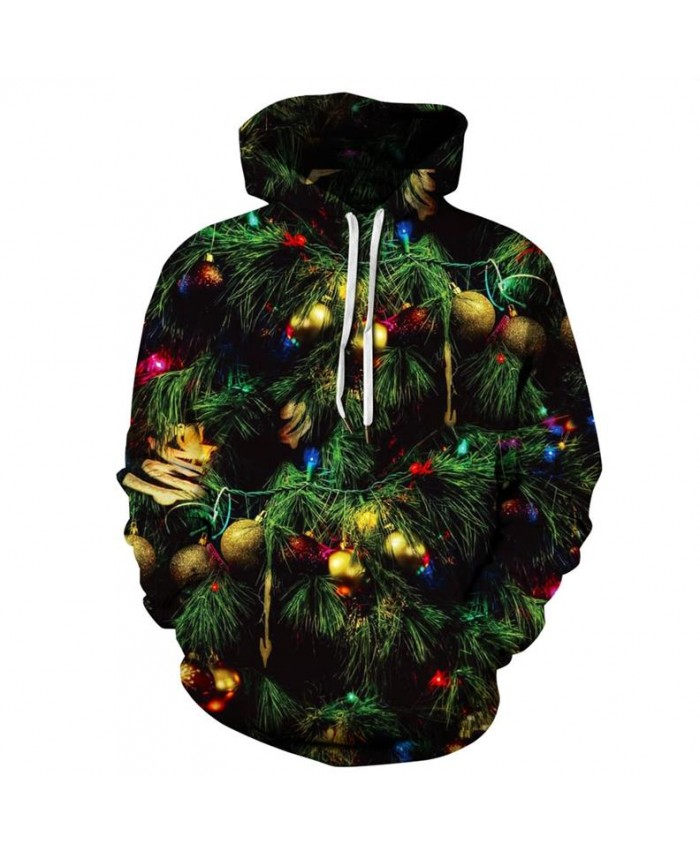 EU Size Green Christmas Tree 3D Hoodie Hoodies Men Women Sportswear Tracksuit 2021 Casual Long Sleeve Pullover Hooded Sweatshirt
