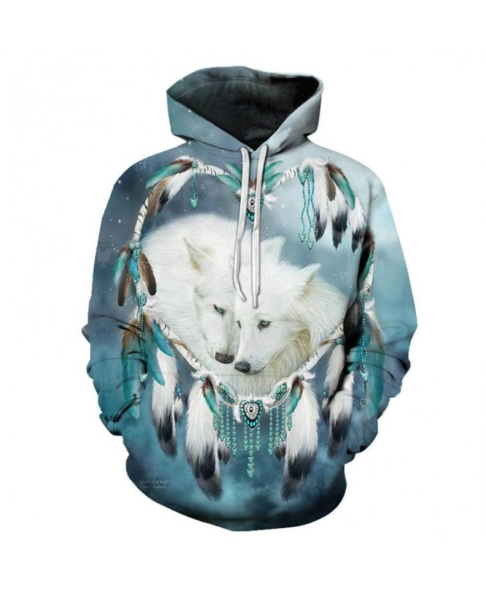 EU Size Wolf Sweatshirt Unisex Hoodies 3D Printed Hoody Men Women Tracksuits Autumn Winter Coat Hooded Clothing Streetwear Coat