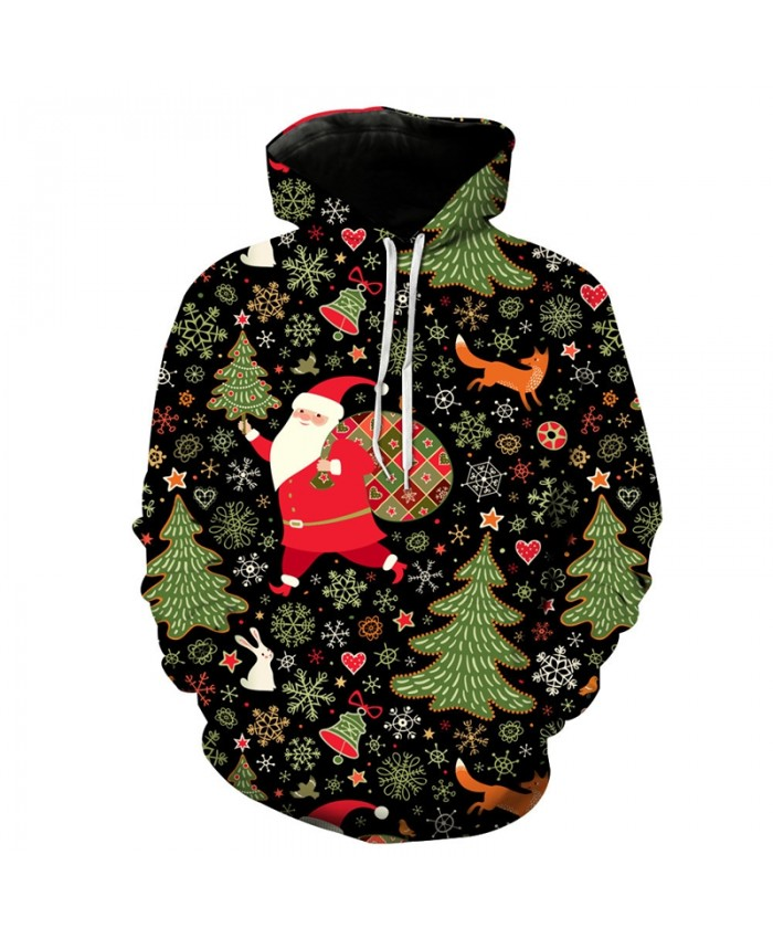 EUR Size Mens Hoodies Santa Claus Christmas Hoodie Autumn Winter Man Women Casual Hooded Sweatshirts 3d Pullover Tracksuit