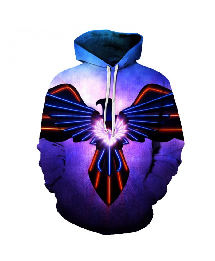 Eagle 3D Hoodie-Pullover Mens Sweatshirts Brand Hoody Funny Pullover Casual Tracksuits Unisex Outwear Boy Jacket 6XL Quality