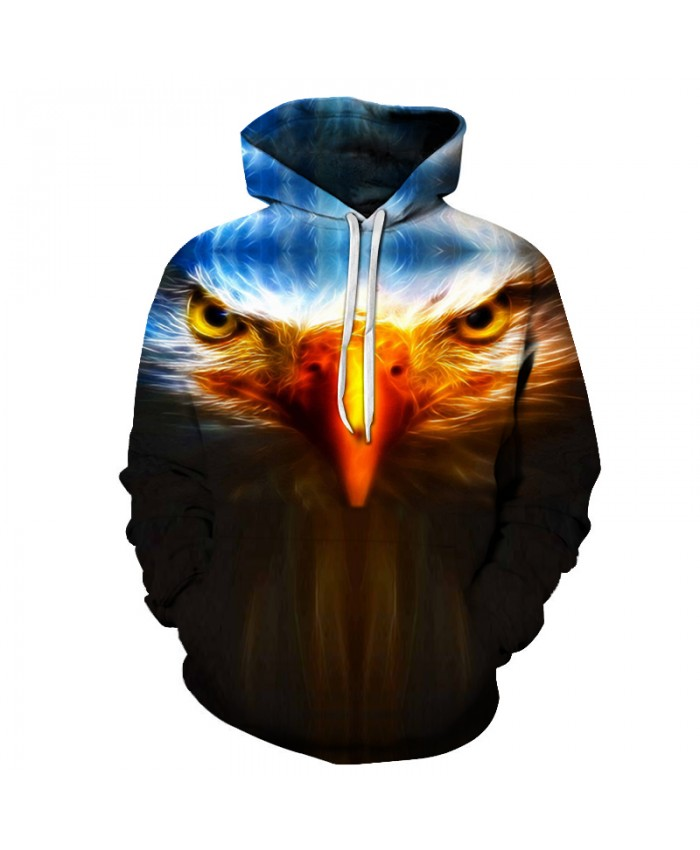 Eagle 3D Mens Hoodies 2018 Hoody Cloth for Men Animal Prints Hoodie Winter Sweatshirts Men Fashion Street Style Pullover