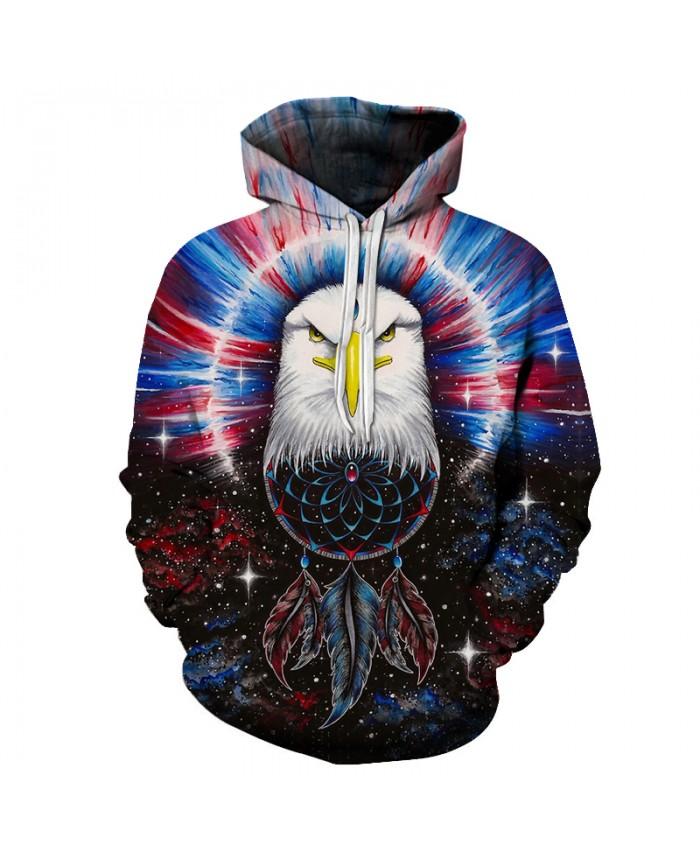 Eagle Printed 3D Hoodies Men Women Unisex Sweatshirts Plus Pullover Fashion Pocket Jacket Male Hooded Casual Tracksuits Brand