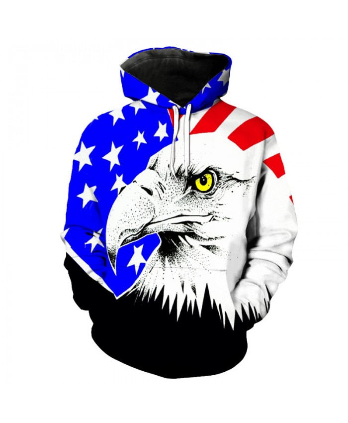 Eagle Style Funny Hooded Sweatshirts Sportswear Casual Hoodie Autumn Tracksuit Pullover Hooded Sweatshirt