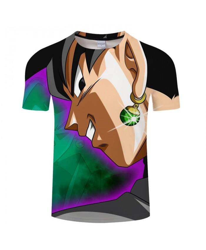 Earrings Shine Cartoon Goku Dragon Ball 3D Print Men tshirt Anime Casual Loose Summer Short Sleeve Male Drop Ship