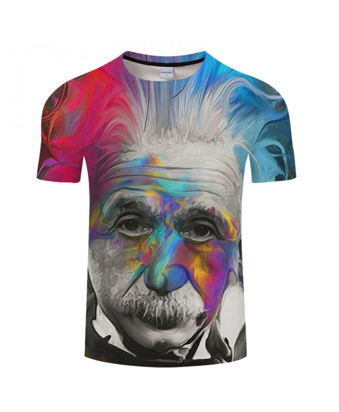 Einstein 3D Print t shirt Men Women tshirts Casual Short Sleeve O-neck Tops&Tee Camisetas 2018 New Arrival Drop Ship