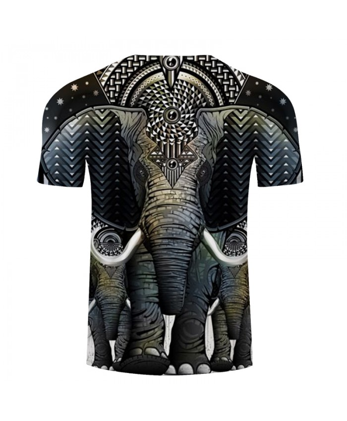 Elephant 3D Print t shirt Men Women tshirt Summer Casual Short Sleeve Boy Tops&Tees Camiseta Vintage New Drop Ship