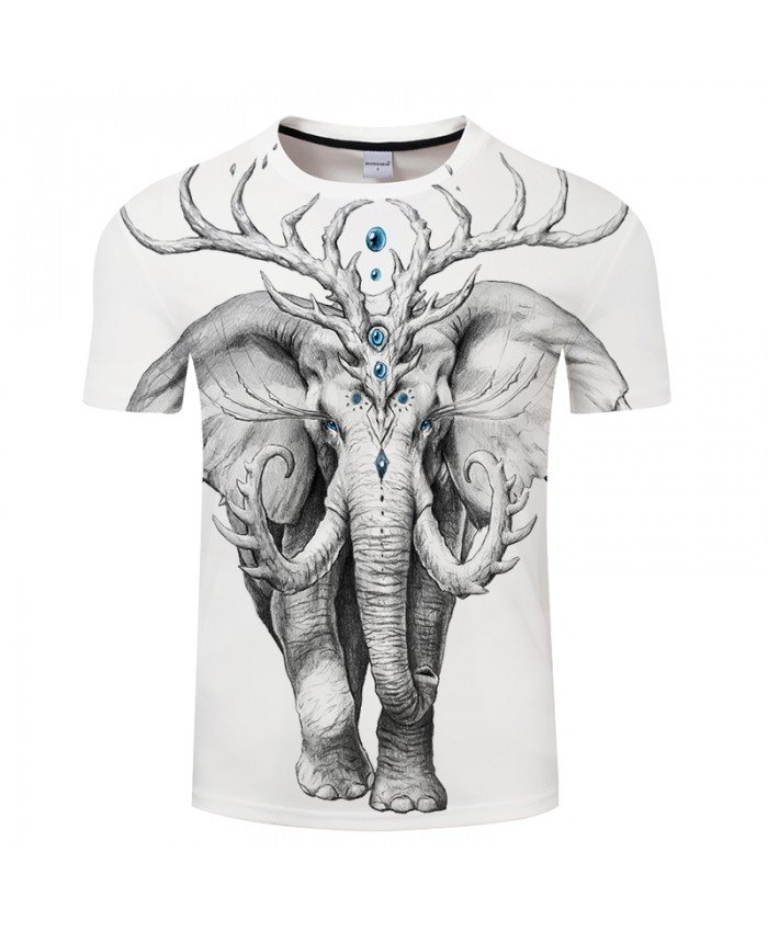 Elephant Soul By JojoesArt Lion 3D Print t shirt Men Women tshirt Summer Casual Short Sleeve O-neck Top&Tees Plus Size Drop Ship