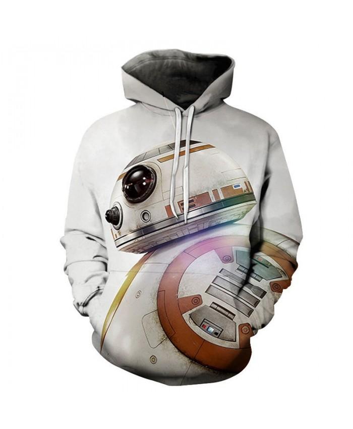 Elliptical Robot Star Wars 3D Printed Mens Pullover Sweatshirt Clothing for Men Custom Pullover Hoodie Drop Ship