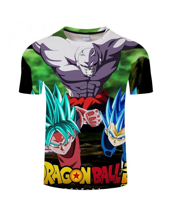 Enemy Sneak Attack Cartoon Goku Dragon Ball 3D Print Men tshirt 2019 Anime Casual Short Sleeve Male O-neck Drop Ship