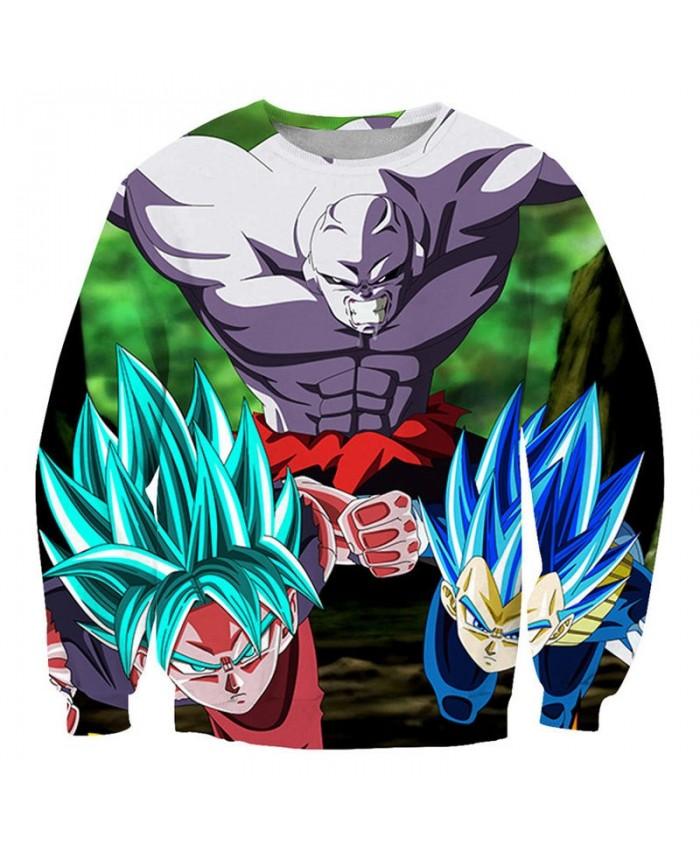 Enemy Sneak Attack Dragon Ball 3D Printed Mens Pullover Sweatshirt No Cap Pullover Men Streetwear Sweatshirt Clothes