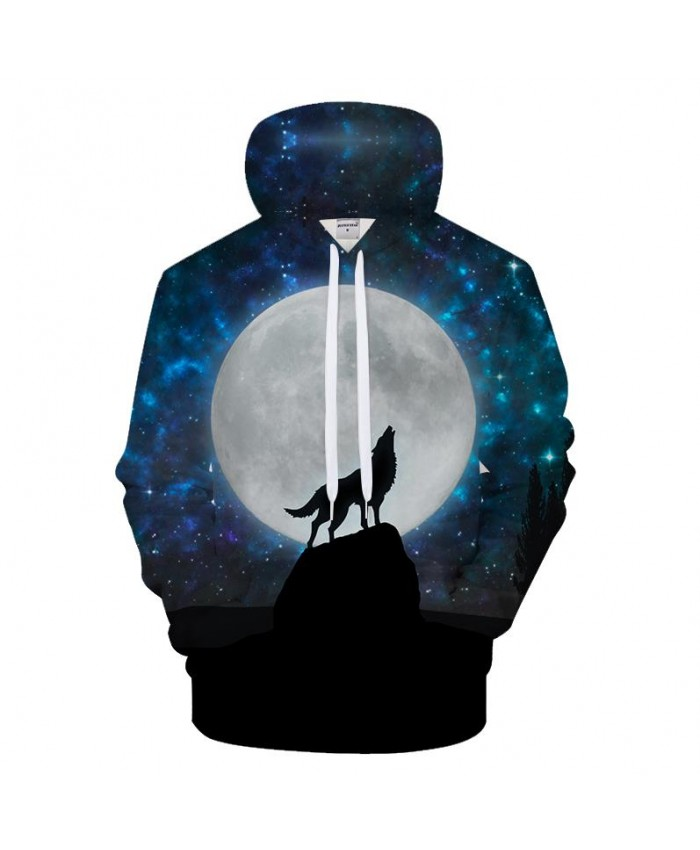 Enjoy Moon 3D Hoodies Women Men Sweatshirts Wolf Pullover Novelty Tracksuit Fashion Hoody Streetwear Hooded Casual Drop Ship