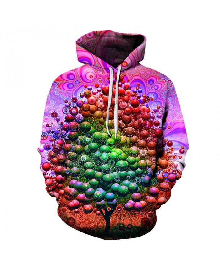 Europe Candy Tree Men's Long Sleeve Pockets 3D Pullover Hoodie Hooded Sweatshirts Hoodies