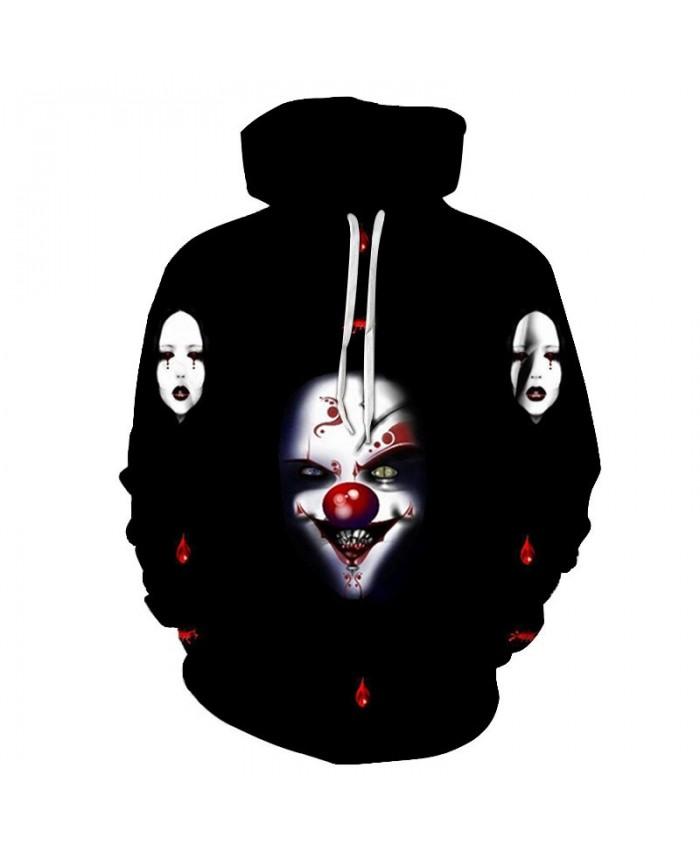 Evil Clown 3D Printed Men Pullover Sweatshirt Clothing for Men Custom Pullover Hoodie Casual Streetwear Sweatshirt