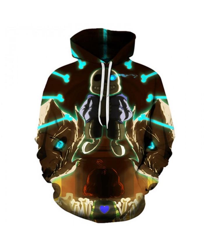 Exposed Teeth Undertale 3D Print Mens Pullover Sweatshirt Fashion Casual Quality Men Hoodies Custom Pullover Hoodie