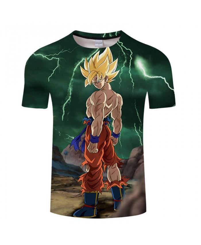 Exposing The Upper Body Cartoon Goku Dragon Ball 3D Print Men tshirt Anime Casual Short Sleeve Male O-neck Drop Ship