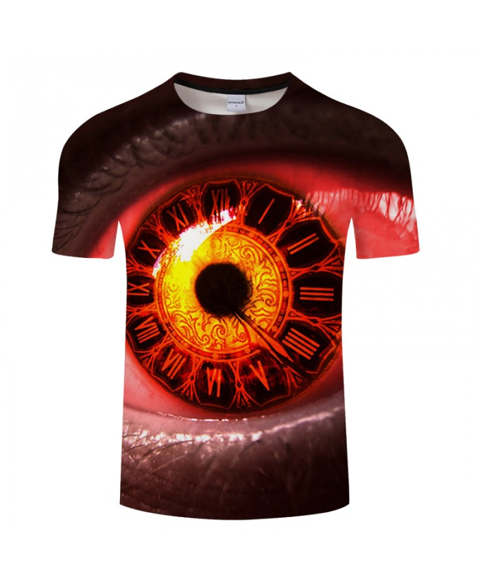 Eye 3D t shirt Men tshirts Summer T-Shirt Classic Short Sleeve Tees Streetwear Tops Harajuku Groot Plus Size DropShip