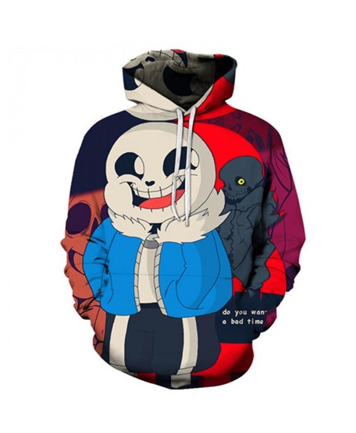 Eye Upturn Undertale 3D Print Mens Pullover Sweatshirt Fashion Casual Quality Men Hoodies Custom Pullover Hoodie