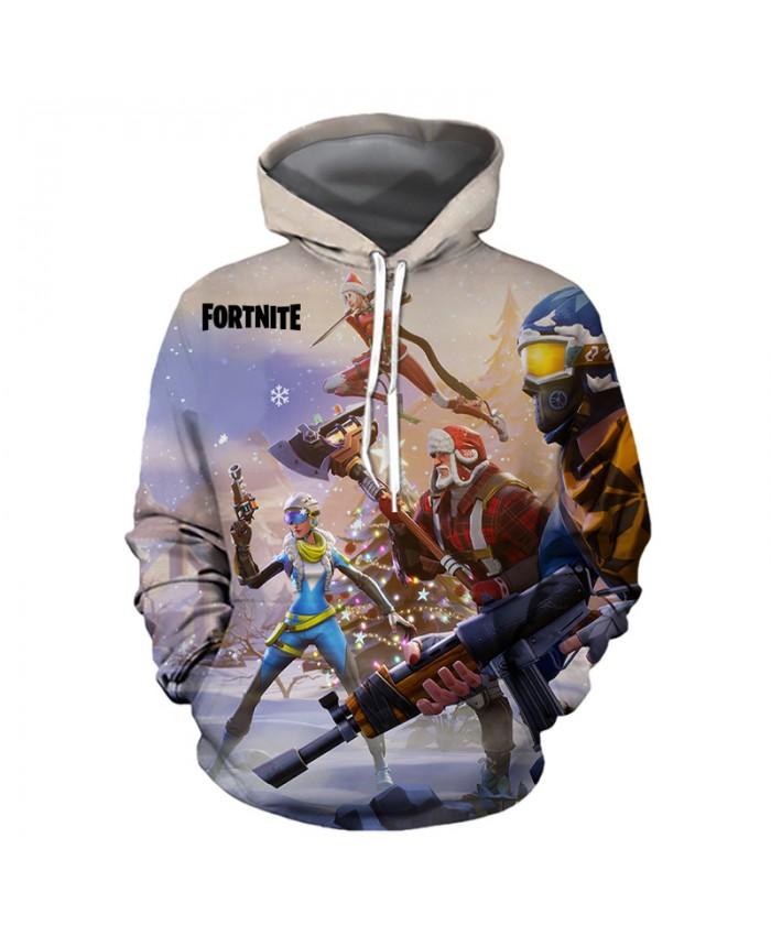 FORTNITE Christmas Hoodies 3D Sweatshirts Men Women Hoodie Print Couple Tracksuit Hooded Hoody Clothing
