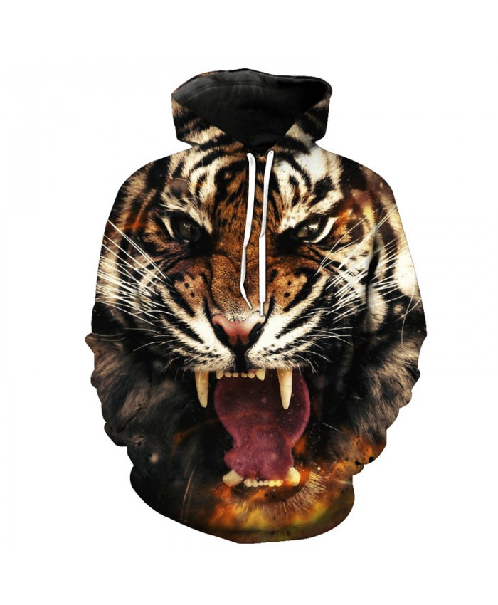 Fall Fashion Hooded Sweatshirt Tigers Style Sweatshirt Pullover Casual Hoodie Autumn Tracksuit Pullover Hooded Sweatshirt