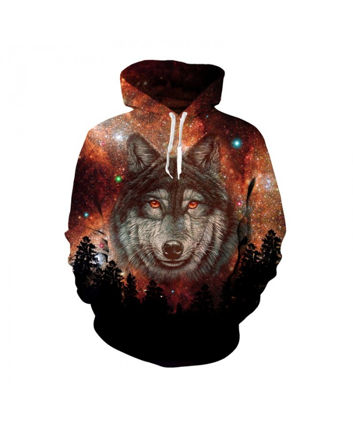 Family Hoodie Warm Adult Kids Girls Boy Mommy Outwear Mother Daughter Clothes Matching 3D Galaxy Wolf Outfits Dropship