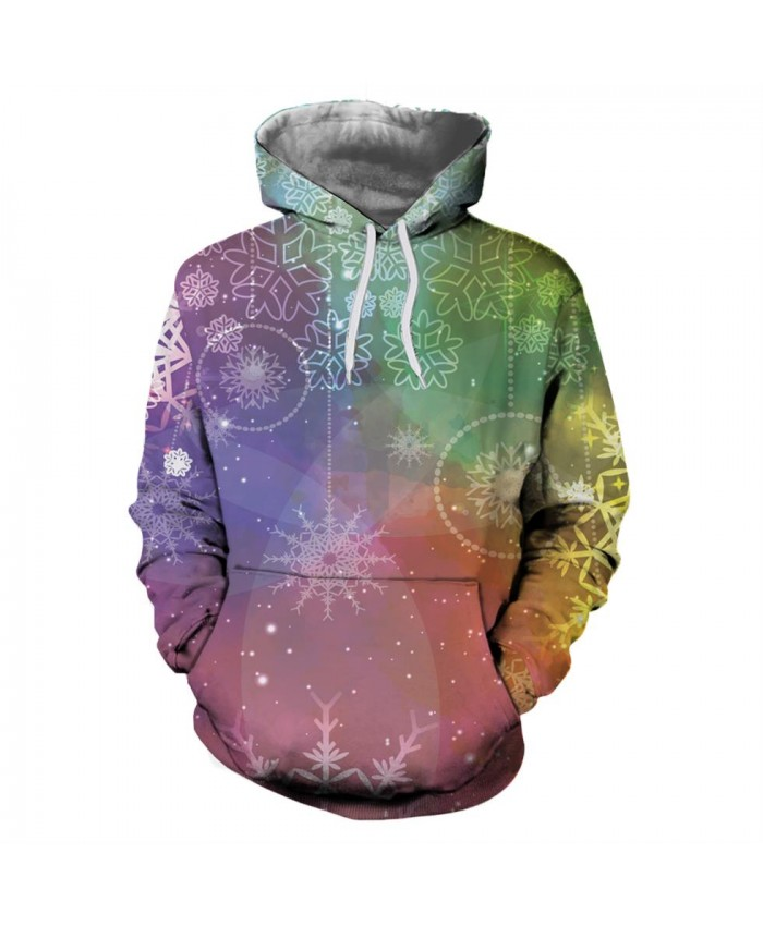 Fantasy Christmas Snowflakes Christmas Hoodies 3D Sweatshirts Men Women Hoodie Print Couple Tracksuit Hooded Hoody Clothing
