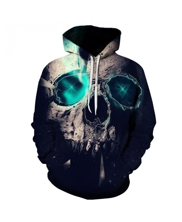 Fashion 3D Hoodies Men Sweatshirts Pain Skull Green eyes Print hoody Casual Pullovers Tops Autumn winter hooded Regular Popular