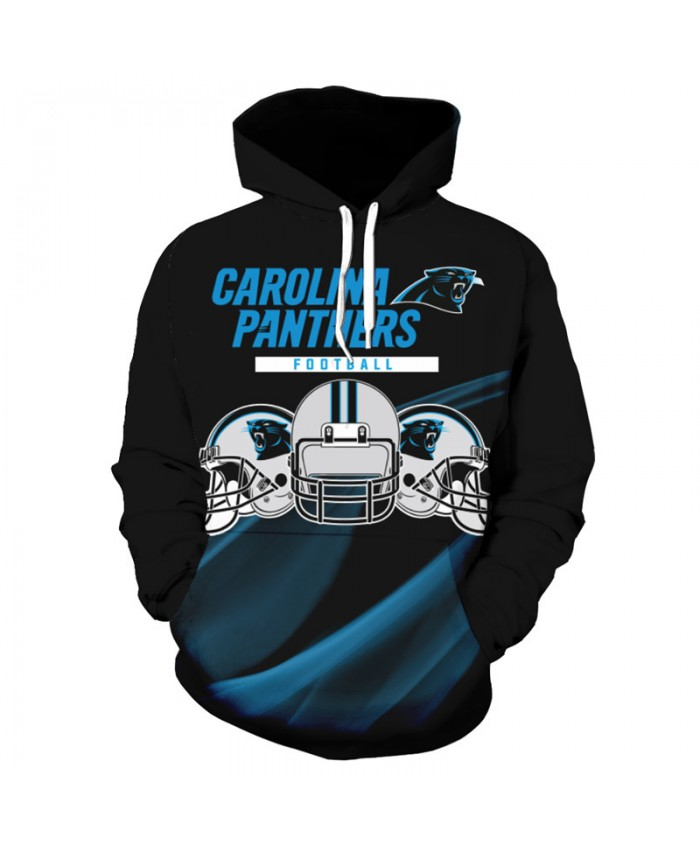 Fashion 3D NFL American Football Carolina Panthers Hoodie Black Cool Sweatshirt Streetwear