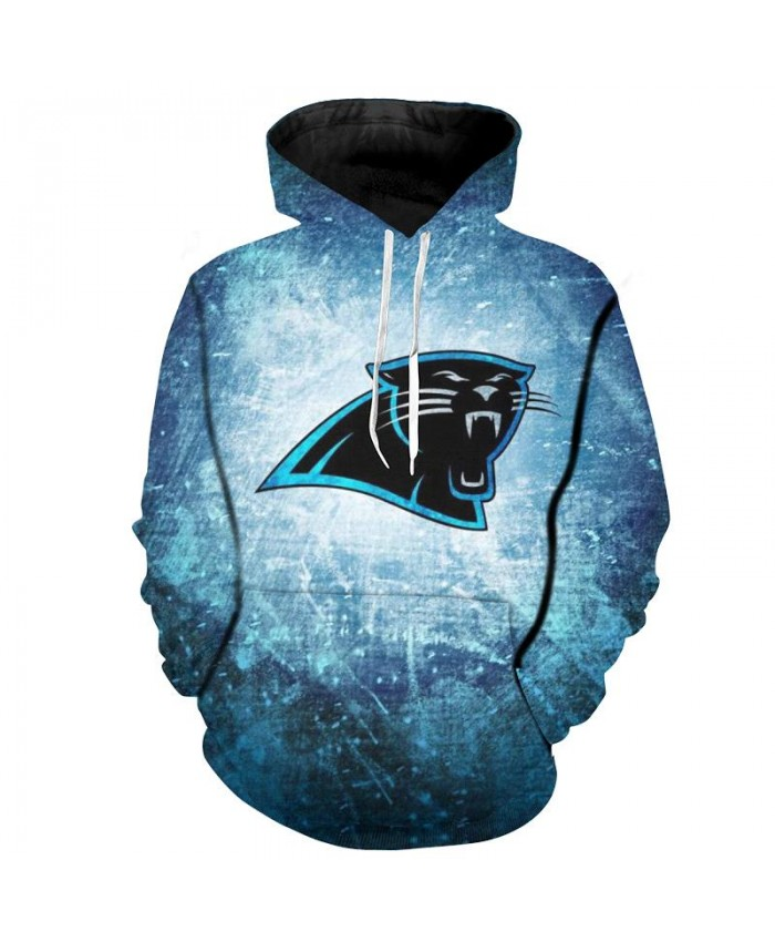Fashion 3D NFL American Football Carolina Panthers Hoodie Blue Cool Sweatshirt Streetwear