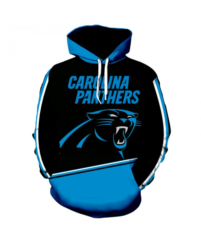 Fashion 3D NFL American Football Carolina Panthers Hoodie Cool Sweatshirt Streetwear