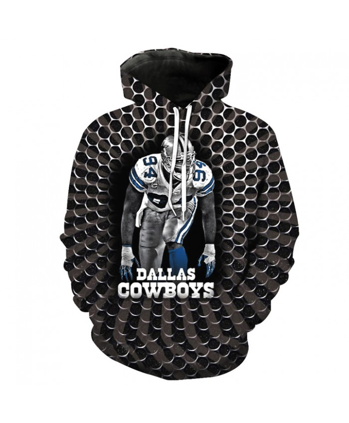 Fashion 3D NFL American Football Dallas Cowboys Hoodie Cool Sweatshirt Streetwear