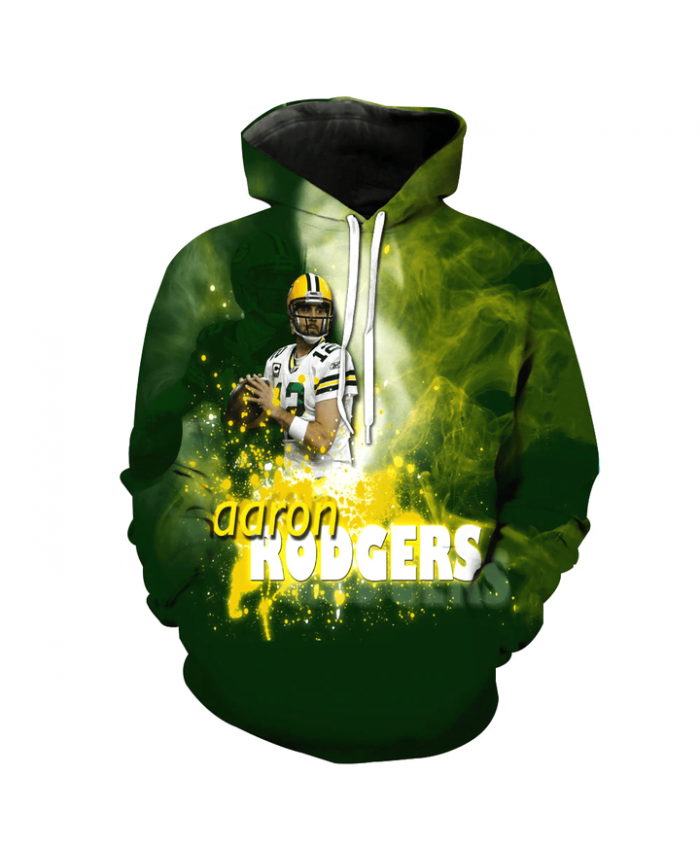 Fashion 3D NFL American Football Green Bay Packers Hoodie Cool Sweatshirt Streetwear
