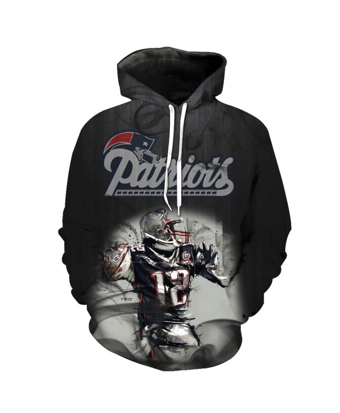 Fashion 3D NFL American Football New England Patriots Hoodie Cool Sweatshirt Streetwear