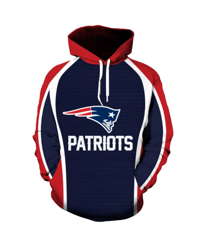 Fashion 3D Print NFL American football New England Patriots Hooded sweatshirt