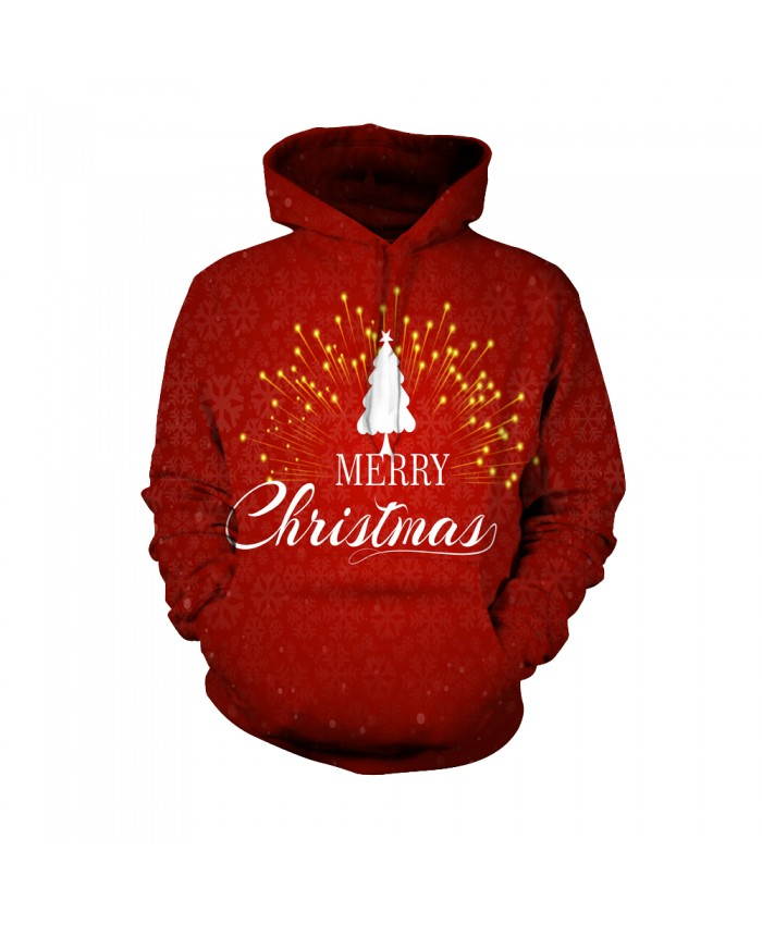 Fashion Christmas Hoodie Sweatshirt Christmas Funny Patterns of Christmas trees 3D Casual Hoodie Clothing