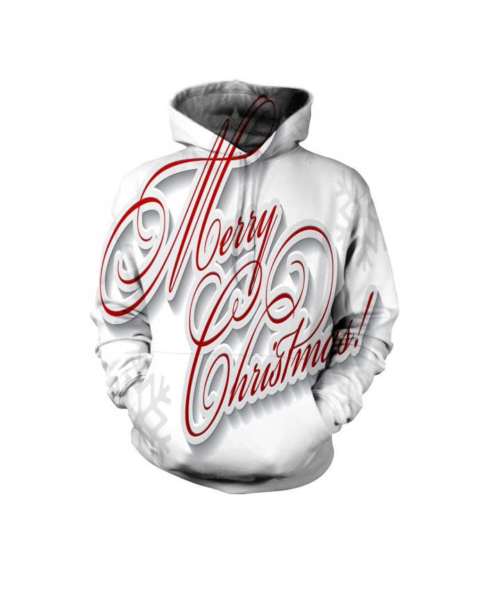 Fashion Christmas Hoodie Sweatshirt Christmas Funny The pattern of the merry letter of Christmas 3D Casual Hoodie Clothing