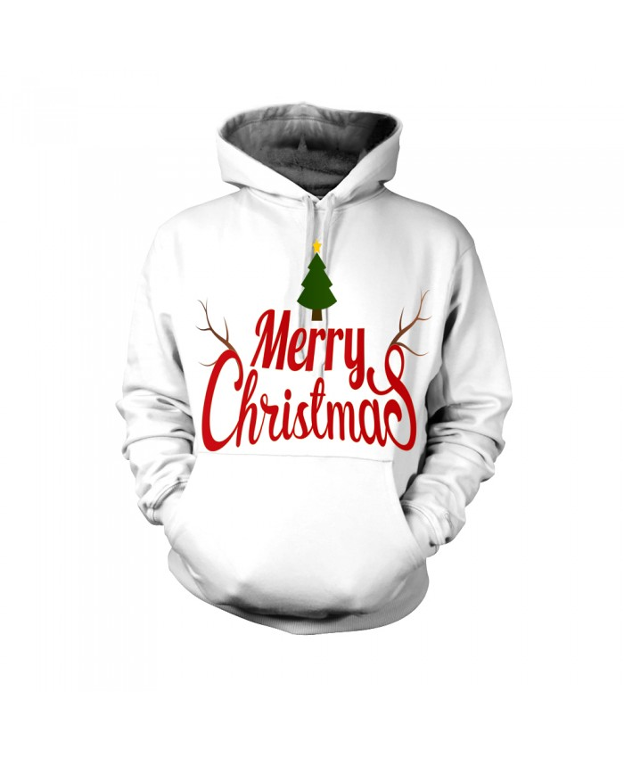 Fashion Christmas Hoodie Sweatshirt Female Christmas Funny Merry christmas white pattern 3D Casual Hoodie Clothing