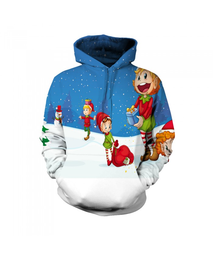 Fashion Christmas Hoodie Sweatshirt Female Christmas Funny The pattern of Christmas presents 3D Casual Hoodie Clothing